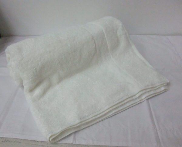 Indulgence Bath Sheet White  scaled